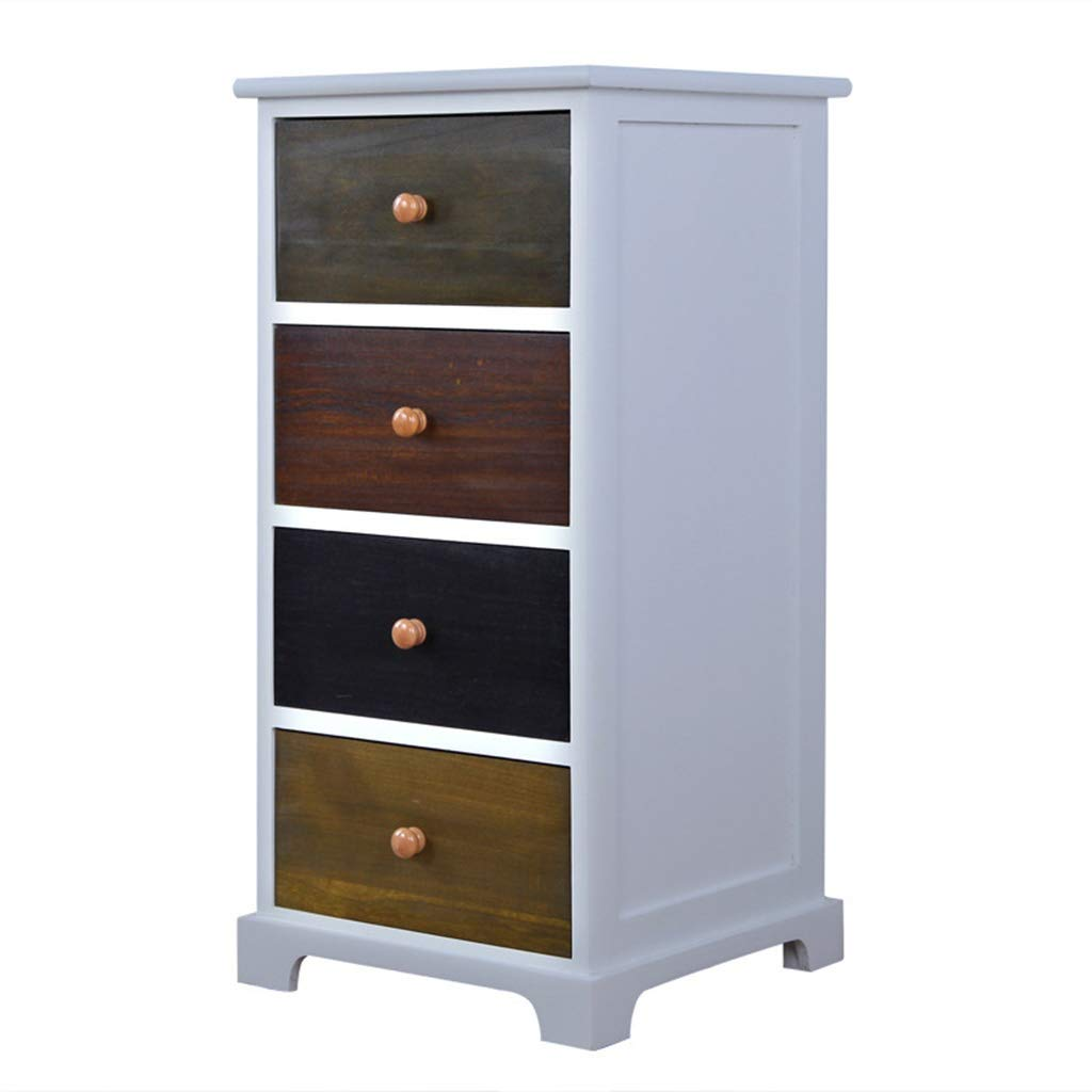 Liu Weiqin Three Drawers, Solid Wood Drawers, Chest of Drawers, White Light Luxury Drawers, American Country, six Drawers (Size : B) by Liu Weiqin