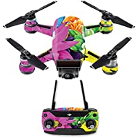 Skin for DJI Spark Mini Drone Combo - Colorful Flowers| MightySkins Protective, Durable, and Unique Vinyl Decal wrap cover | Easy To Apply, Remove, and Change Styles | Made in the USA