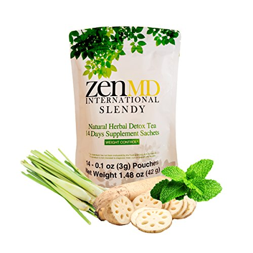ZEN SLENDY Rig Loss Tea - 14 Days Natural Healthy Herbal Detox & Colon Cleanse for Slimming and Lose Belly Fat