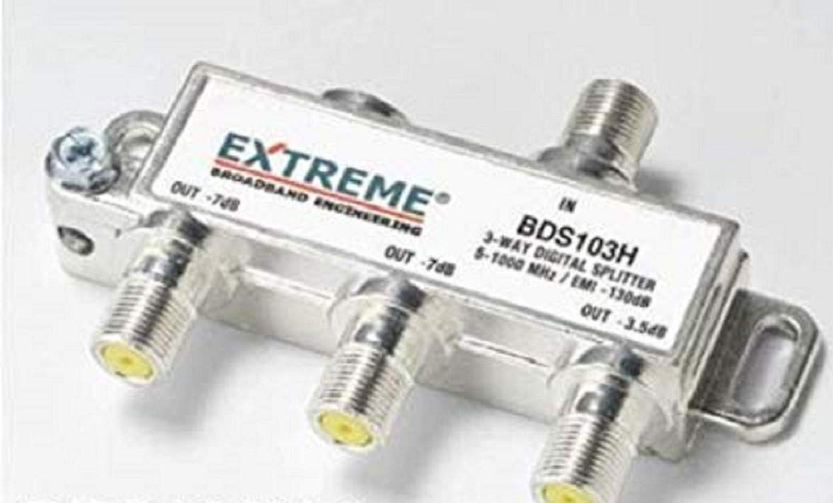 NEW Extreme Broadband BDS102H 2-way Digital High Performance Coax Cable Splitter