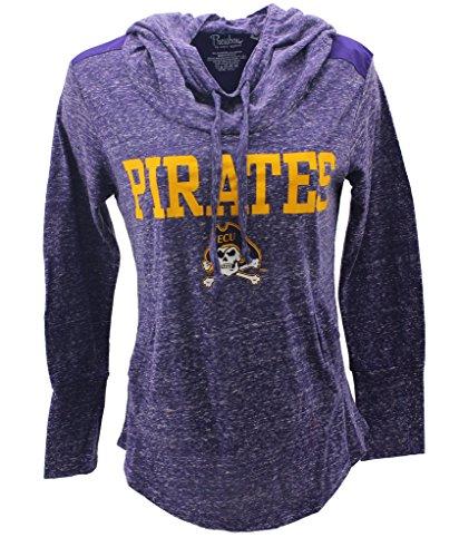 Pressbox Women' s NCAA East Carolina Pirates Long Sleeve Hoodie (Pirate Apparel)