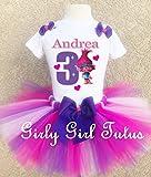 Trolls Poppy Birthday Outfit Tutu Set