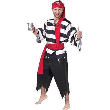 Amazon.com: Cabina de adultos – Disfraz de pirata (Tamaño: X ...