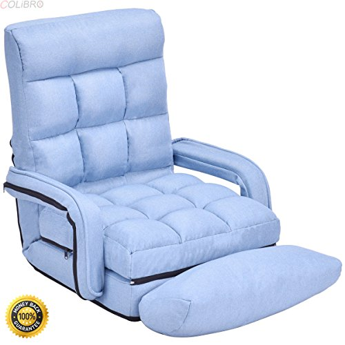 51e2U%2Bk0eOL - COLIBROX-Blue-Folding-Lazy-Sofa-Floor-Chair-Sofa-Lounger-Bed-with-Armrests-and-Pillowfloor-chair-with-back-supportbest-floor-chair-Folding-Lazy-SofaSofa-for-saleportable-floor-chair