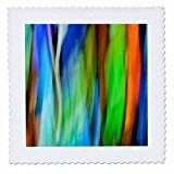 3dRose Danita Delimont - Abstracts - A motion blur of a stain glass window. - 16x16 inch quilt square (qs_276400_6)