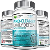 PRO-CLEANSE Daily Detox Formula with Probiotics - 60 Veggie Caps - 1,100mg Per Serving - Supports Natural Weight Loss & Increased Energy Levels - Gentle Effective Relief with No Harsh Side Effects
