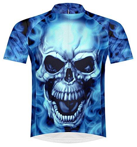 Primal Wear Burning Skull Cycling Jersey Men's Medium Short Sleeve