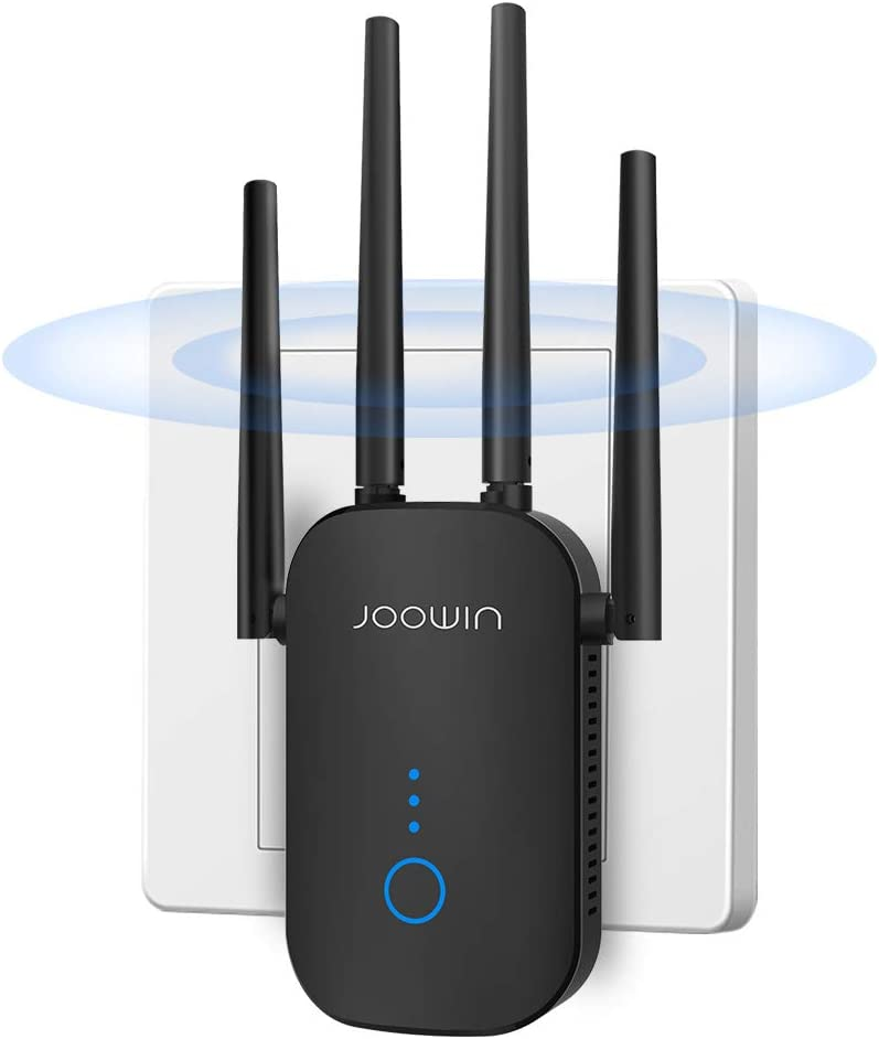 WiFi Range Extender 1200Mbps WiFi Extender Repeater WiFi Signal Booster Internet Booster, Easy to Set Up -Up to 867Mbps
