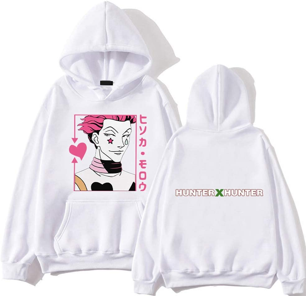 GerFogoo JinJiJiaZheng Hunter x Hunter Sweat-shirt /à capuche pour femme en polyester /à manches longues pour filles et femmes 2XL Blanc