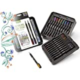 Crayola Color Gel Pens with Decorative Case, Metallic and Glitter Pens, Assorted Colors, 20 Count
