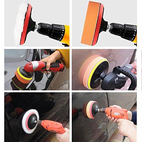 Coceca 26PCS 3 Inch Car Foam Drill Polishing Pads, Buffing Sponge Pads Kit for Car Sanding, Polishing, Waxing,Sealing Glaze by Coceca (Image #6)'