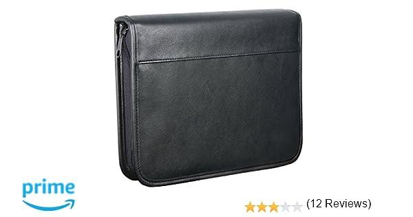 Wedo 581501 - Organizador (archivador de 4 anillas, tamaño A5, soporte para documentos, tarjetero, cierre con cremallera), color negro: Amazon.es: Oficina y ...