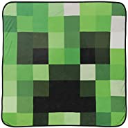 Mojang Minecraft Creeper Plush Throw Blanket