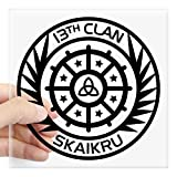 CafePress - The 100 - 13Th Clan Skaikru Sticker - Square Bumper Sticker Car Decal, 3'x3' (Small) or 5'x5' (Large)