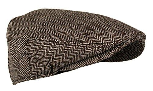 6e7a5ee0355 Wonderful Fashion Men s Classic Herringbone Tweed Wool Blend Newsboy IVY Hat  (Brown