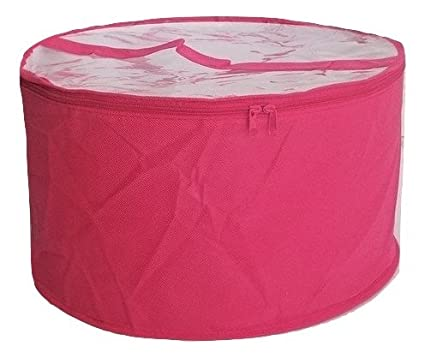 Collapsible Fabric Hat Box (Magenta Large)