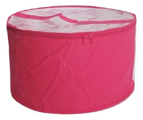 Collapsible Fabric Hat Box (Magenta Large) ()