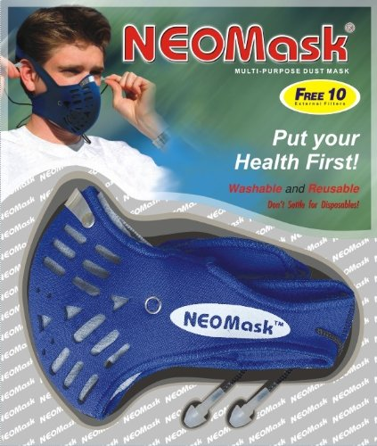 Neoprene Wetsuit Vapor (Neoprene Carbon Mask - Multi-Purpose Dust Mask with 2 Carbon Filters and 10 External Filters)