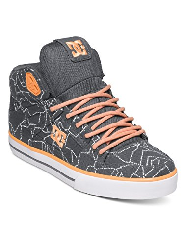 DC Womens Spartan WC SP High Top Shoes ADJS400010, Grey/Orange, 11
