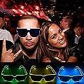 Shantanca LED Light up Glasses,Personality LED Light Flashing Glasses Luminous Eyeglasses for Festivals Bar Nightclub Dance Party Decoration