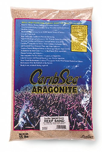 CaribSea Aragonite Reef Sand for Aquarium, 15 lb