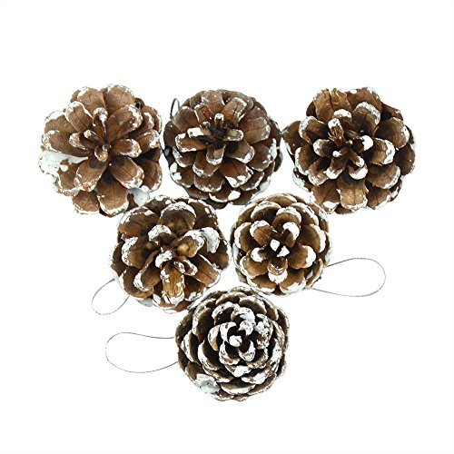 12Pcs Pine Cones Christmas Tree Hanging Ornament Decoration for Yard Garden Home