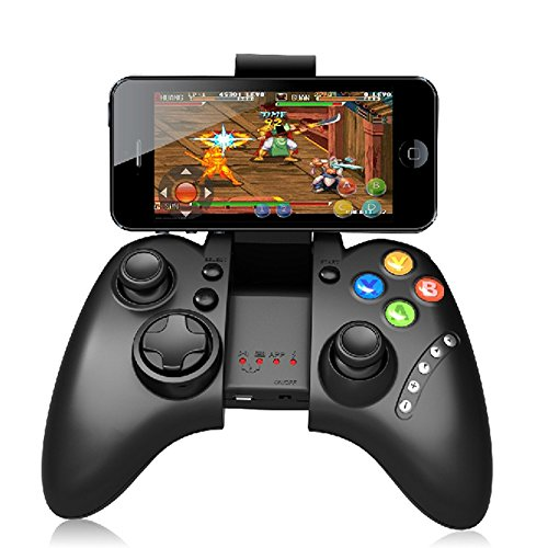 Geekercity Wireless Bluetooth Game Gaming Controllers Joystick Gamepad Remote Control with Cell Phone Clip for Android IOS PC (Bluetooth Para Tv Samsung)