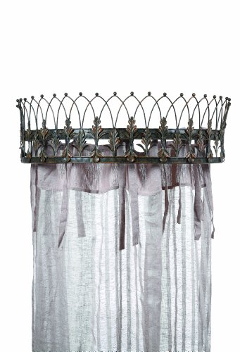 Creative Co Op Metal Curtain Crown