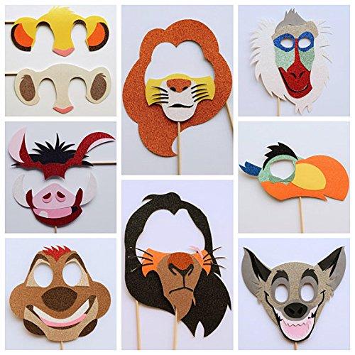 Disney Photo Booth Props ; Disney Lion King Birthday Party ; Jungle Birthday Party Birthday Decoration ; Disney Party Decor