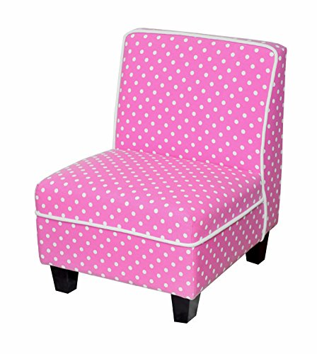Heritage Kids Polka Dot Kids Slipper Chair, Pink, One ()