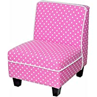 Heritage Kids Polka Dot Kids Slipper Chair, Pink, One Size