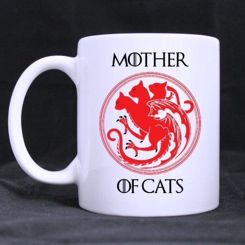 Funny Mother's Day Gift - Mother of Cats Mug Funny Novelty Ceramic Tea Coffee Mug with Gift Box (11oz)