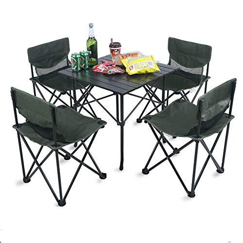 Amazon.com: Mesa y silla plegables y resistentes, traje de ...