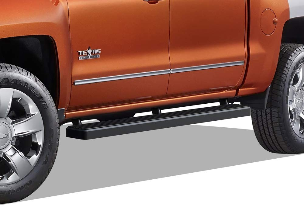 Tyger Auto TG-RS2C40048 Riser for 2007-2018 Chevy Silverado//GMC Sierra 1500 /& 2007-2019 2500//3500HD Crew Cab 4inch Black Side Step Rails Nerf Bars Running Boards