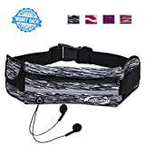 JOGGING Running Pouch Belt Waist Pack Runners Belt Fanny Pack for iPhone 8 7 6 Plus Water Resistant Sport Belt Bag with Bottle Holder Great for Cycling Hiking Travel Outdoor Activites