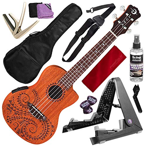 Luna Tattoo Acoustic-Electric Concert Ukulele with for sale  Delivered anywhere in USA