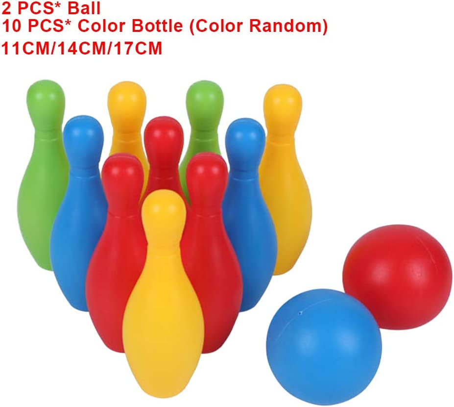 10pcs Parent Child Bowling Toy Set Colorful Funny Early Teaching Toddler Games Bowling Toy with 2 Ball