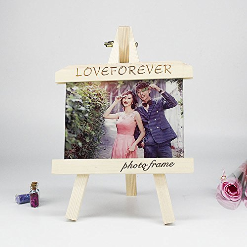 Personalized Wood Photo Plaque with Crystal Glass Photo Print,Desktop Picture Frames Photo Custom Birthday/Baby Birth/Valentine's Day/Christmas Gift ()