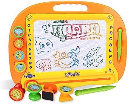 [スポンサー プロダクト]お絵かきボード 大画面(38*28cm) 子供おもちゃ 磁石ボード らくがき教室 知育おもちゃ マグネットスタンプ 繰り返し描ける