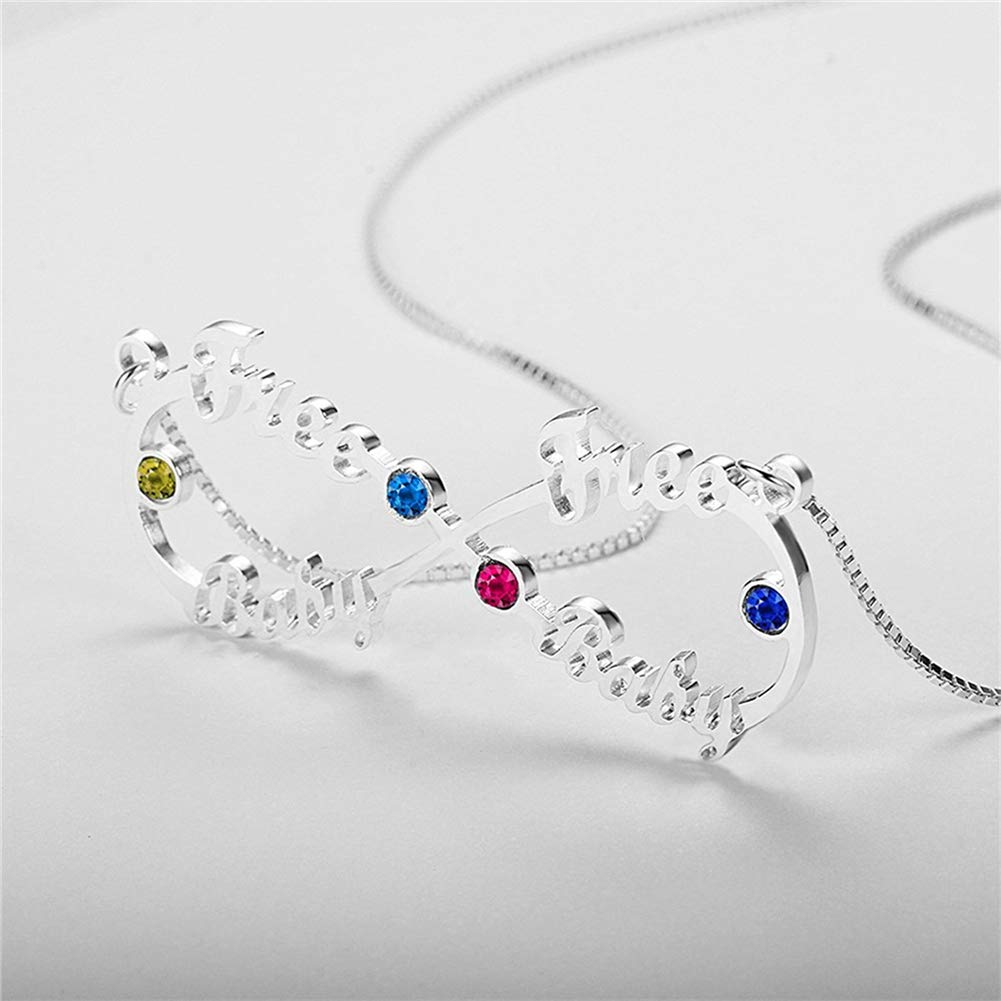 """SADNESS N 925 Silver Necklace Forever Love/"""" Infinity Pendant Diamond Necklace Gift for Mothers Day"""