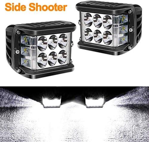 SKYWORLD Triple Side Shooter 12 Led Würfel 2 x 60W Scheinwerfer Led Arbeits Nebelscheinwerfer Licht Off Road Fahrlicht für SUV ATV UTV LKW Auto