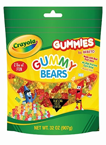 CRAYOLA 2LB BAG ASSORTED GUMMY FLAVORS (Gummy Bears) ()