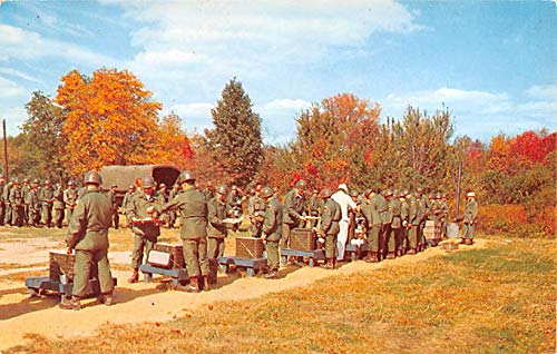 Military Post Card Old Vintage Antique Postcard Feeding in the Field during basic training, Fort Dix, NJ Unused