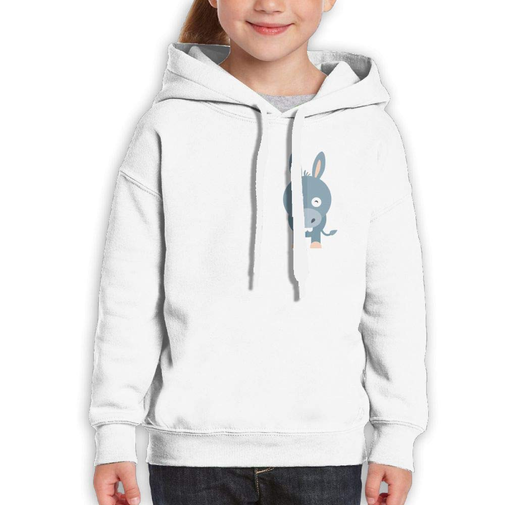 Cute Donkey Love Youth Hoody Print Long Sleeve Sweatshirts Girl