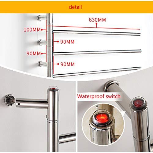 JackeyLove Calentadores de Toallas, Calentador eléctrico de Toallas toallero radiador-Silver-590 * 630 * 120-51W Manual: Amazon.es: Hogar