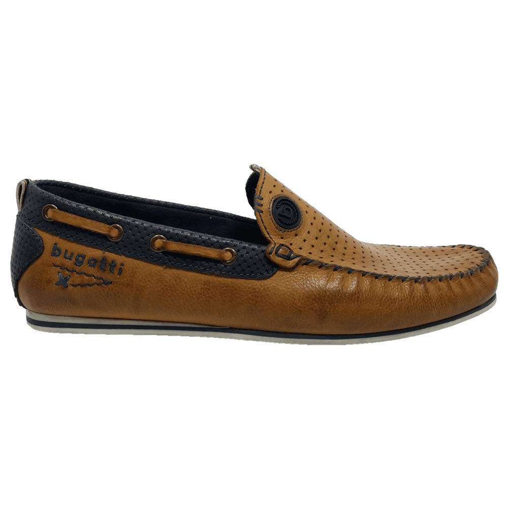 Bugatti Mens Benjy Leather Boat Shoes