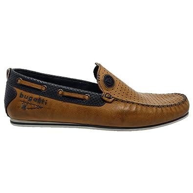 factory price 14021 a1afa Bugatti , Herren Bootsschuhe Mehrfarbig Cognac/Blue: Amazon ...