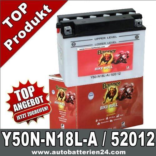 Banner Motorrad Batterie Y50n N18l A 20ah 12volt 52012 Auto
