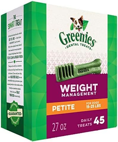 Dog Treats: Greenies Weight Management Petite