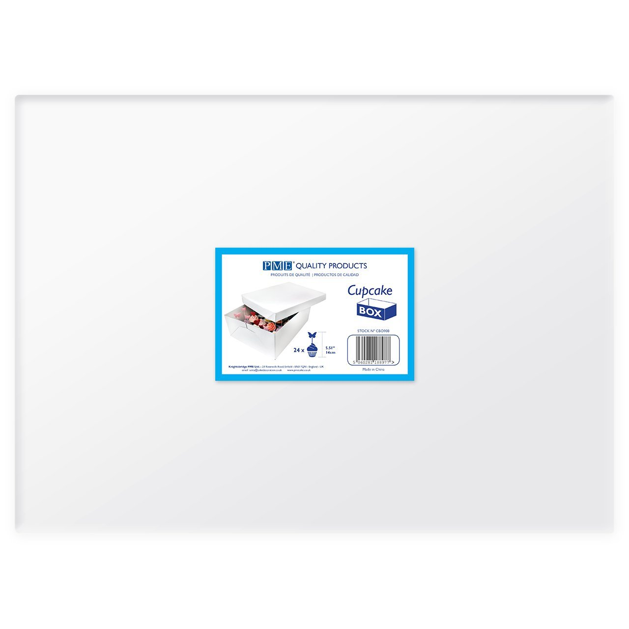 PME Extra tief Cupcake Box f/ür 12/Kuchen